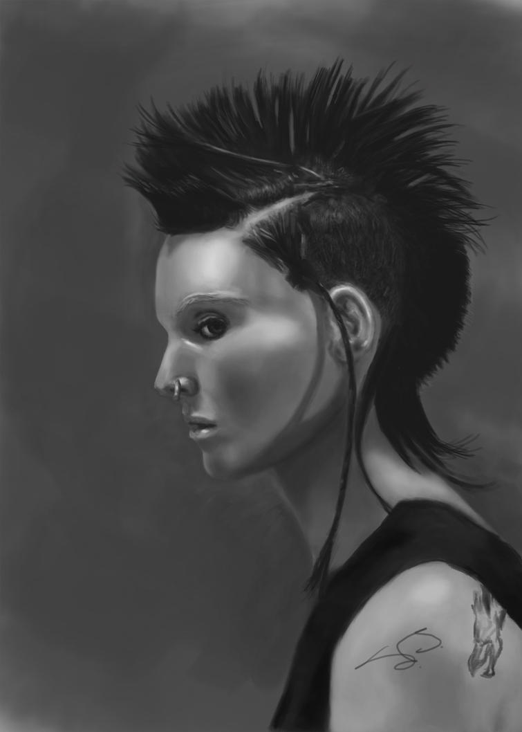 Girl with the dragon tattoo by sanithil on deviantart for Girl with dragon tattoo