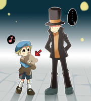 Layton and Luke:Teddy bear? by RokusukeTanaka