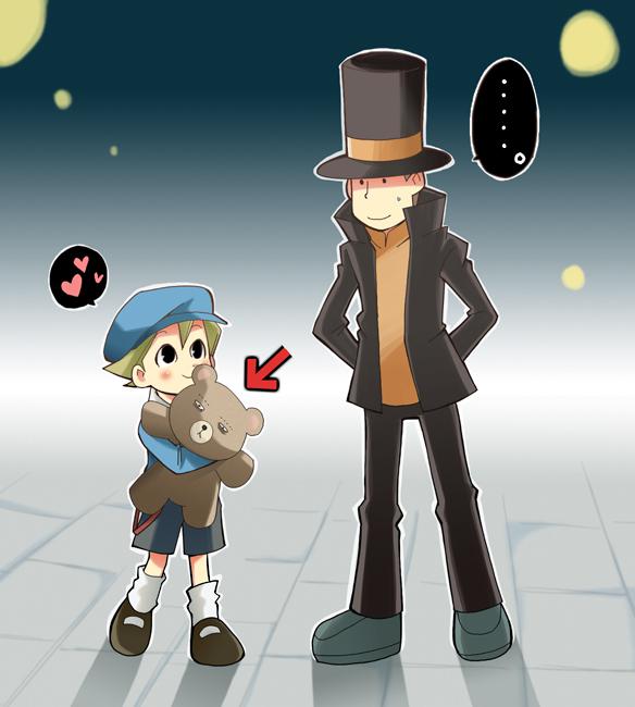 Hum... Oui... Je suis confiant....  - Page 2 Layton_and_Rook_Teddy_bear__by_RokusukeTanaka