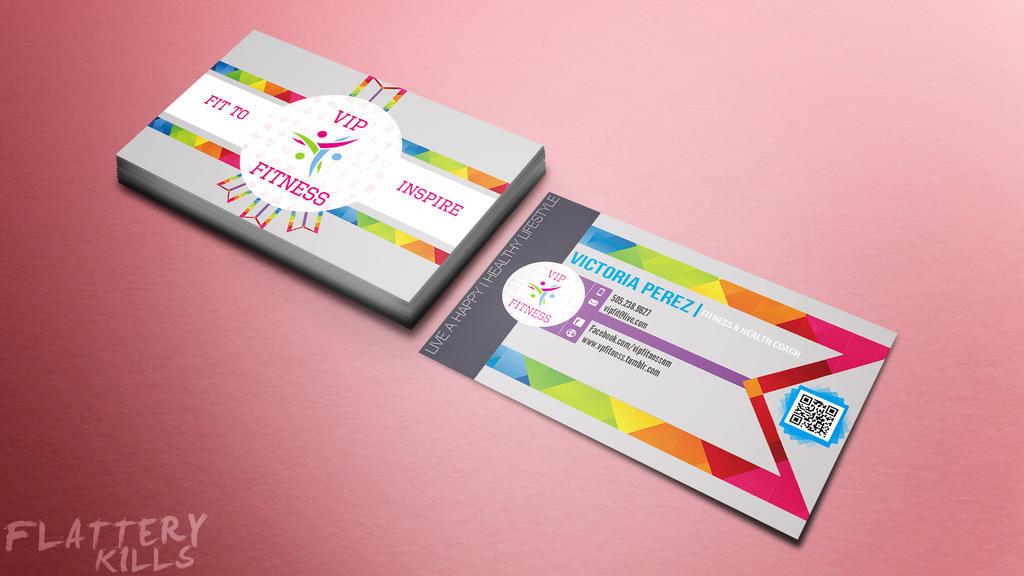 VIP Fitness Business Card by FlatteryKills on DeviantArt
