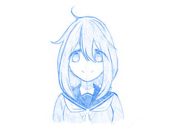 Fanart Sketch  Nadeshiko (Laid-back Camp) by eb4224