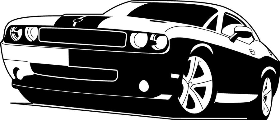 Muscle Car Decals >> 2008 Dodge Challenger VektorI by V8-Custom-Designs on ...