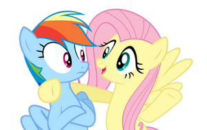 Vector of Rainbow Dash and Fluttershy by Pikamander2