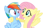 Vector of Rainbow Dash and Fluttershy