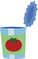 Empty can of tomato juice by Pikamander2