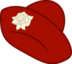 Lily Dache's red tea hat