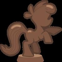 Chocolate Pony Statue by Pikamander2