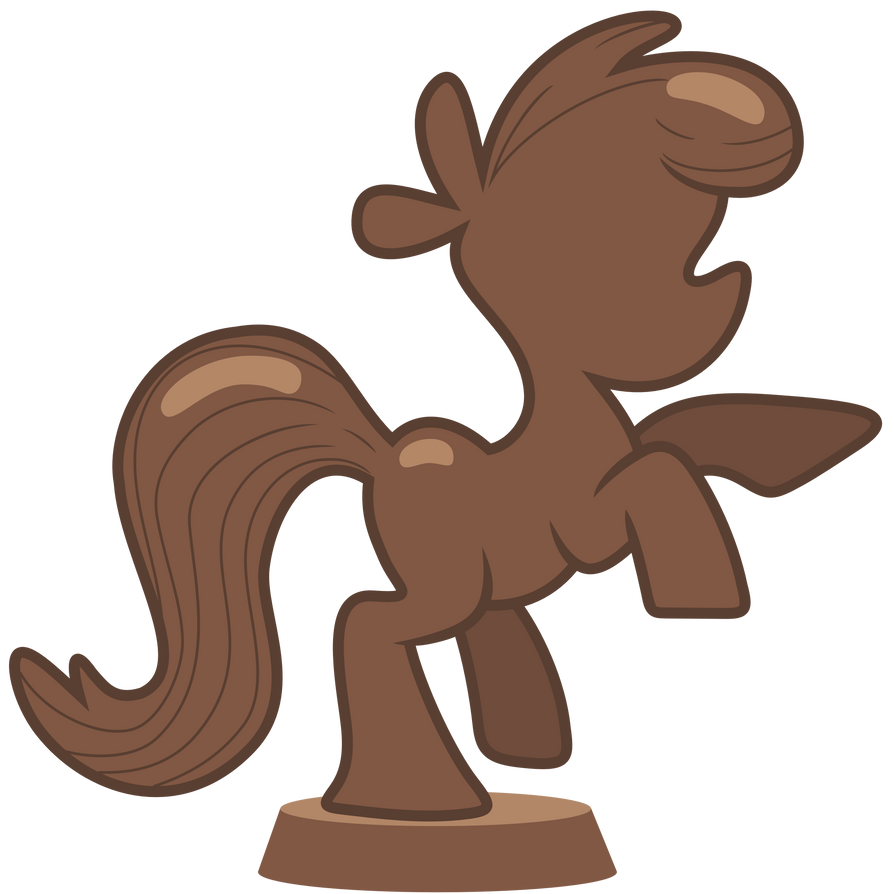 50 renders alimentation my little pony Chocolate_pony_statue_by_pikamander2-d5iy76q