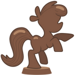 Chocolate Pony Statue