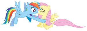 Rainbow Dash saves Fluttershy by Pikamander2