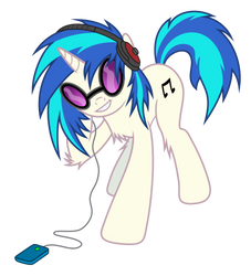 (Pajaga) Vinyl Scratch listening to music by Pikamander2