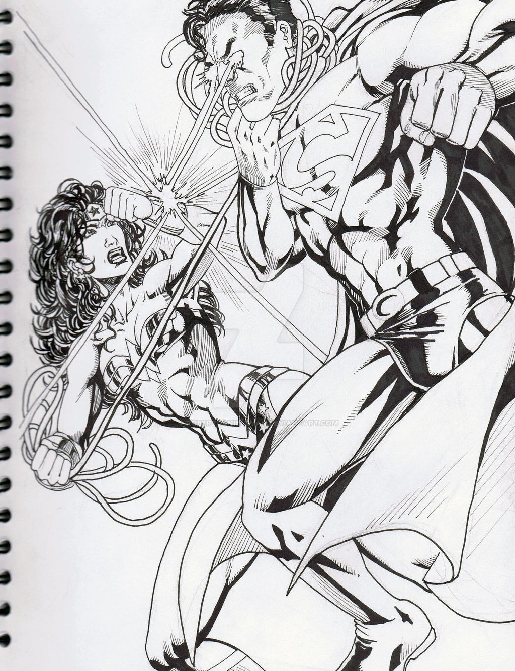 Wonder Woman vs. Superman B by RobertDanielRyan