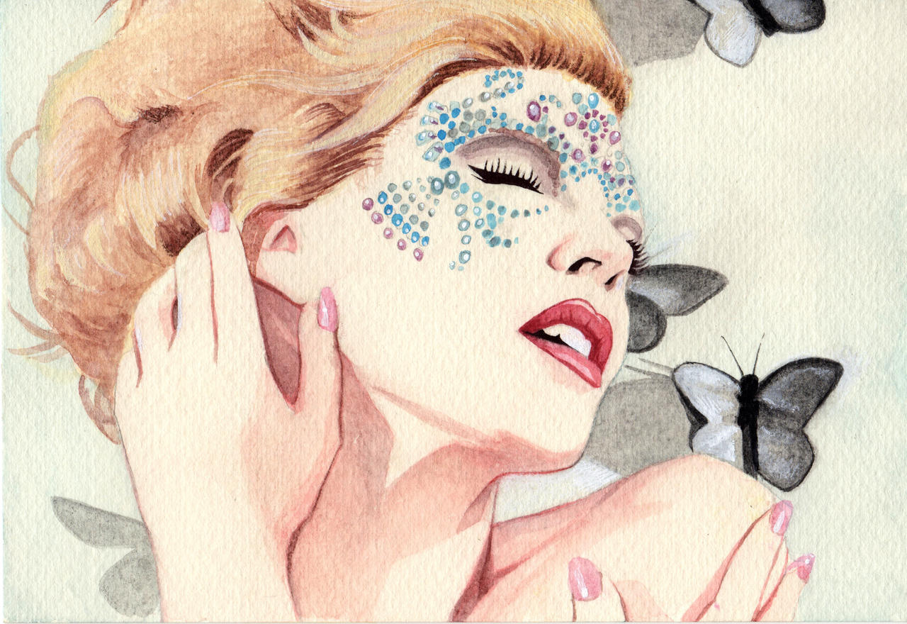 Kylie Minogue Watercolor by RobertDanielRyan
