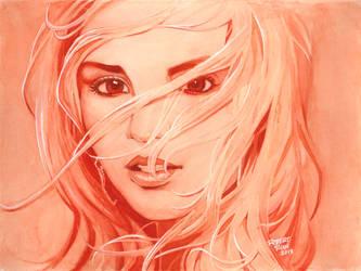 Britney Spears Watercolor by RobertDanielRyan