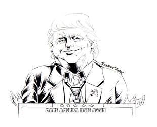 Crooked Trump Inktober Entry by RobertDanielRyan