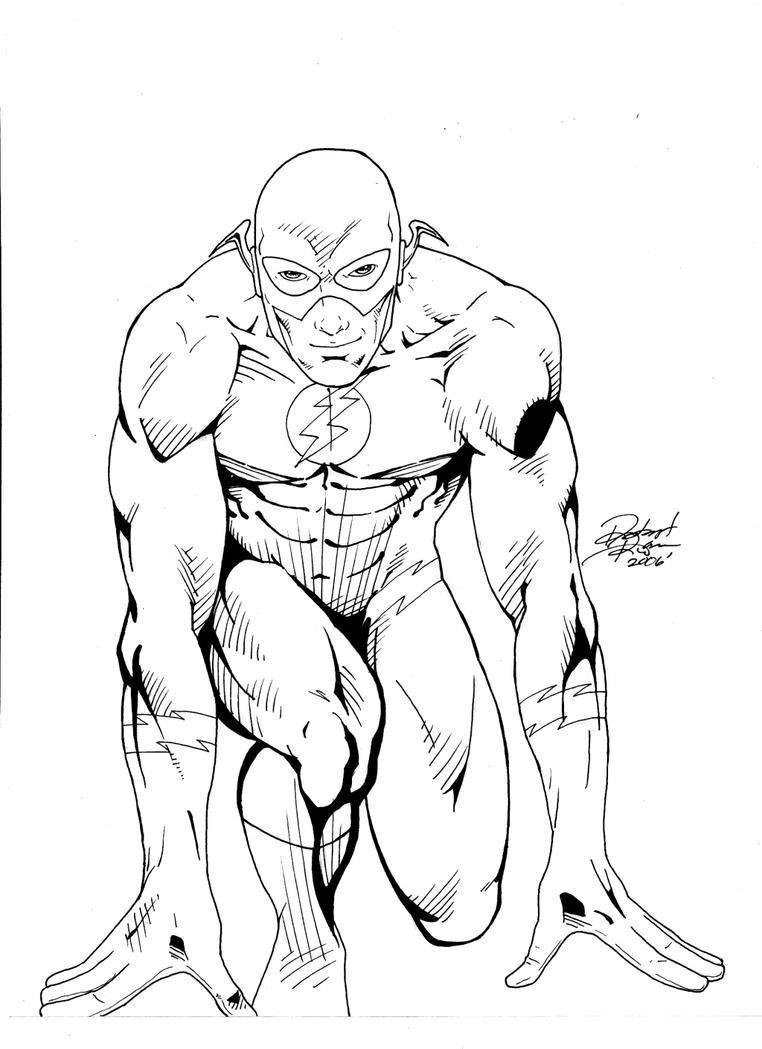 Flash running coloring pages for Flash da colorare