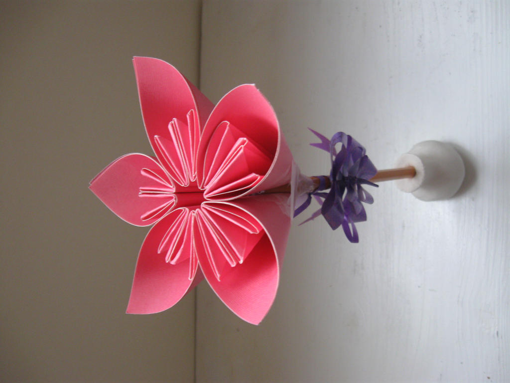 Ceramic flower pot and origami flower by Mika2mirai on ... - photo#31