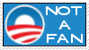 Not a Fan of Obama Stamp by RedTusker