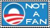 Not a Fan of Obama Stamp by RedTusker