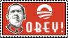 Obey Obama Stamp by RedTusker