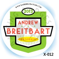 Adrew Breitbart 2012 button by RedTusker