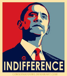 Indifferent Obama poster