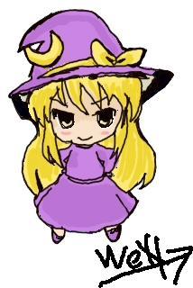 Chibi PC98 Kirisame Marisa by deathwen