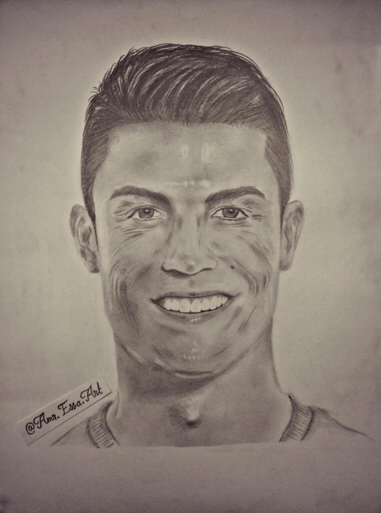 Cristiano Ronaldo Cr7 Pencil Drawing Portrait By Amressaart On Deviantart