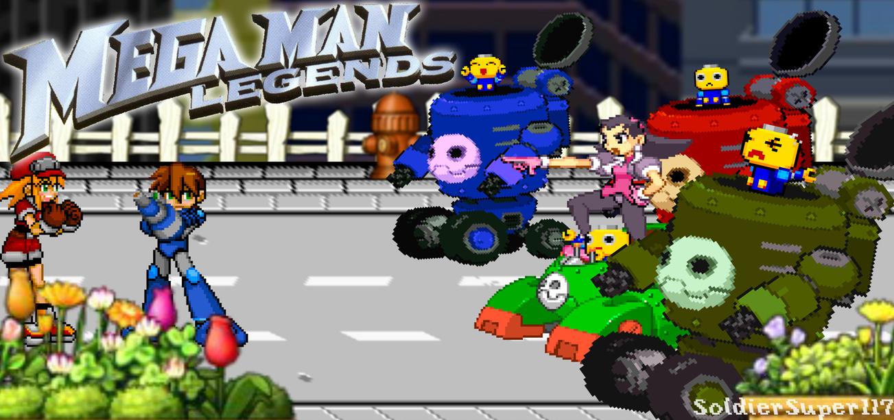 MegaMan Legends - MegaMan vs. Tron (Sprites Scene) by SoldierSuper117