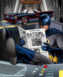 Batman reading newspaper