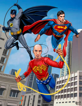 Batman Superman and Wonderman  commission