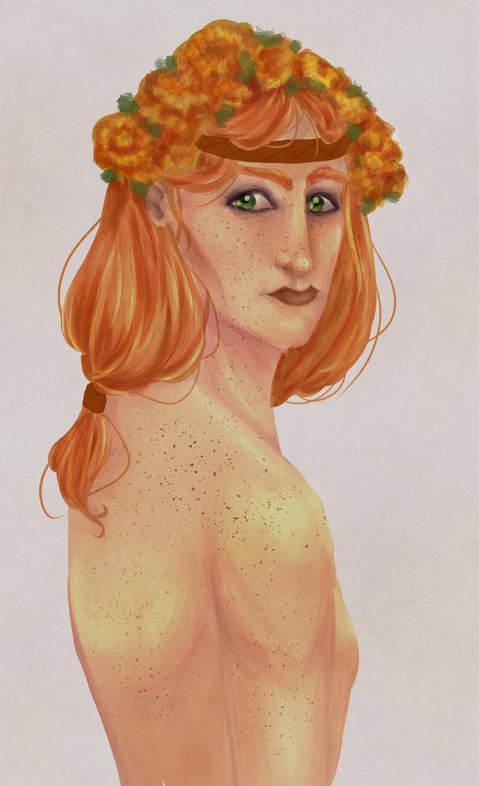 DA2: Copper Marigolds by gohda