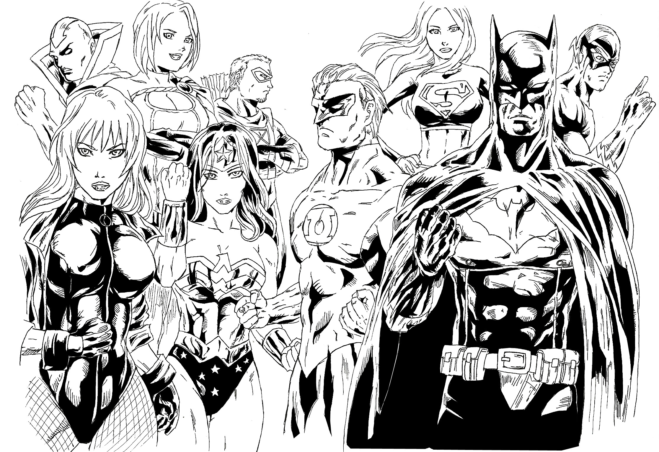 The Justice League Of America By Stryfers On DeviantArt