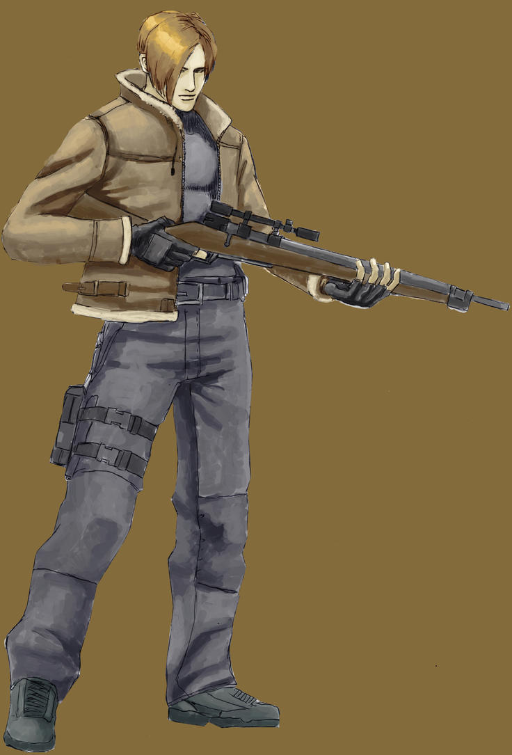 Leon Kennedy Ready for Action by stryfers