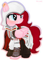 Lovely in Ezio's clothes by LovelyCupid1223