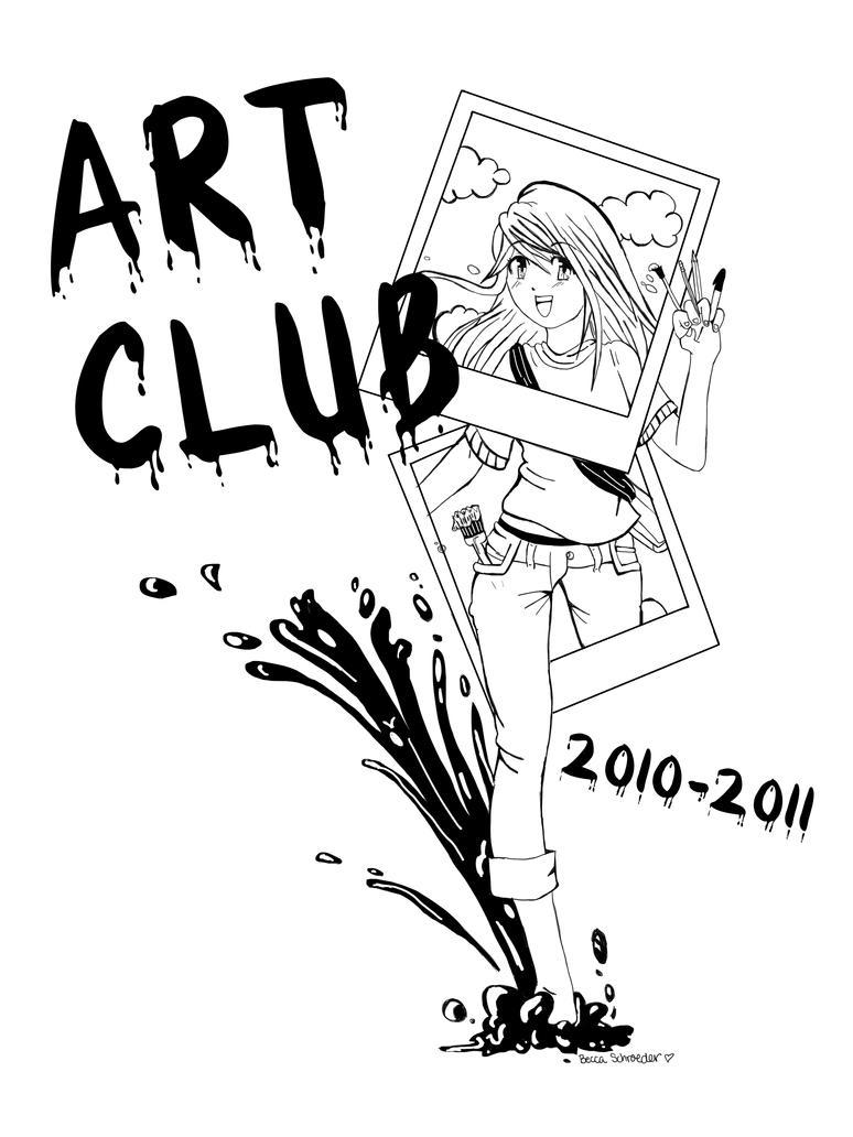 Deviantart coloring clubs - Art Club T Shirt Design By Boobookachoo