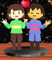 Chara and Frisk - MMD Figures by AsukaRose