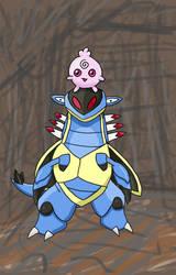 Pokemon DC Day 8 - My favorite fossil pkmn Armaldo by flyforshine