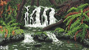 Pixel Dailies 14-07-2020 - Waterfall