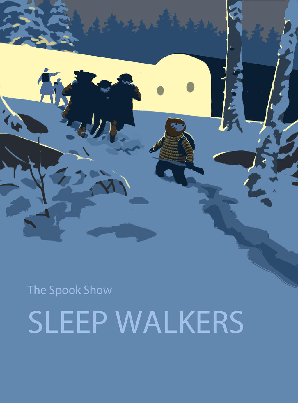 Sleep Walkers graphic novel cover by EllenBarkin