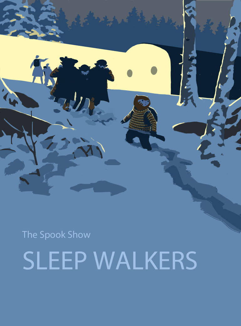 Sleep Walkers graphic novel cover by EllenBarkin