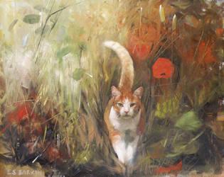 Nelson the cat by EllenBarkin