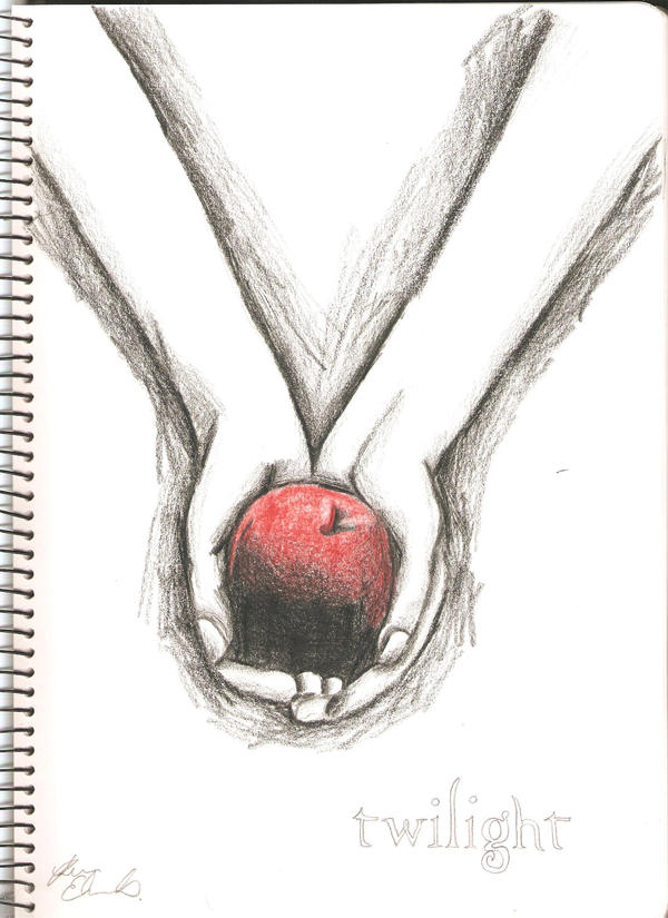 Twilight Book Cover Drawing : Twilight cover by kirrie on deviantart