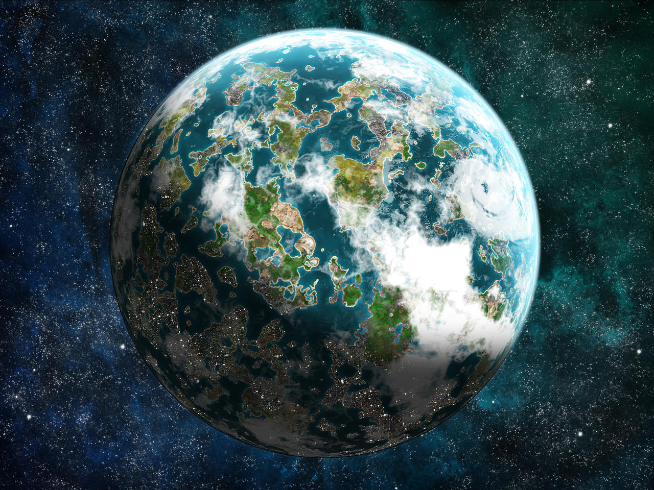 Earthlike planet by DaShadeE on DeviantArt