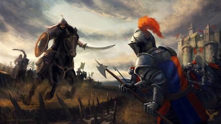 Battle scene by DaShadeE