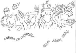 Faceless Disney heroines- the children