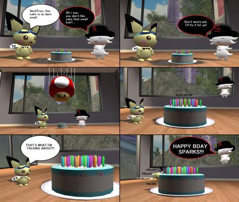 Sparks's Cake (Happy Bday pichu90)