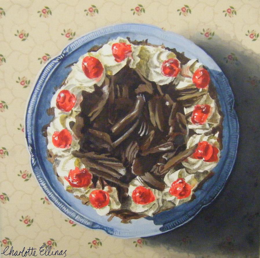 Chocolate Cake by ArtbyCharlotte