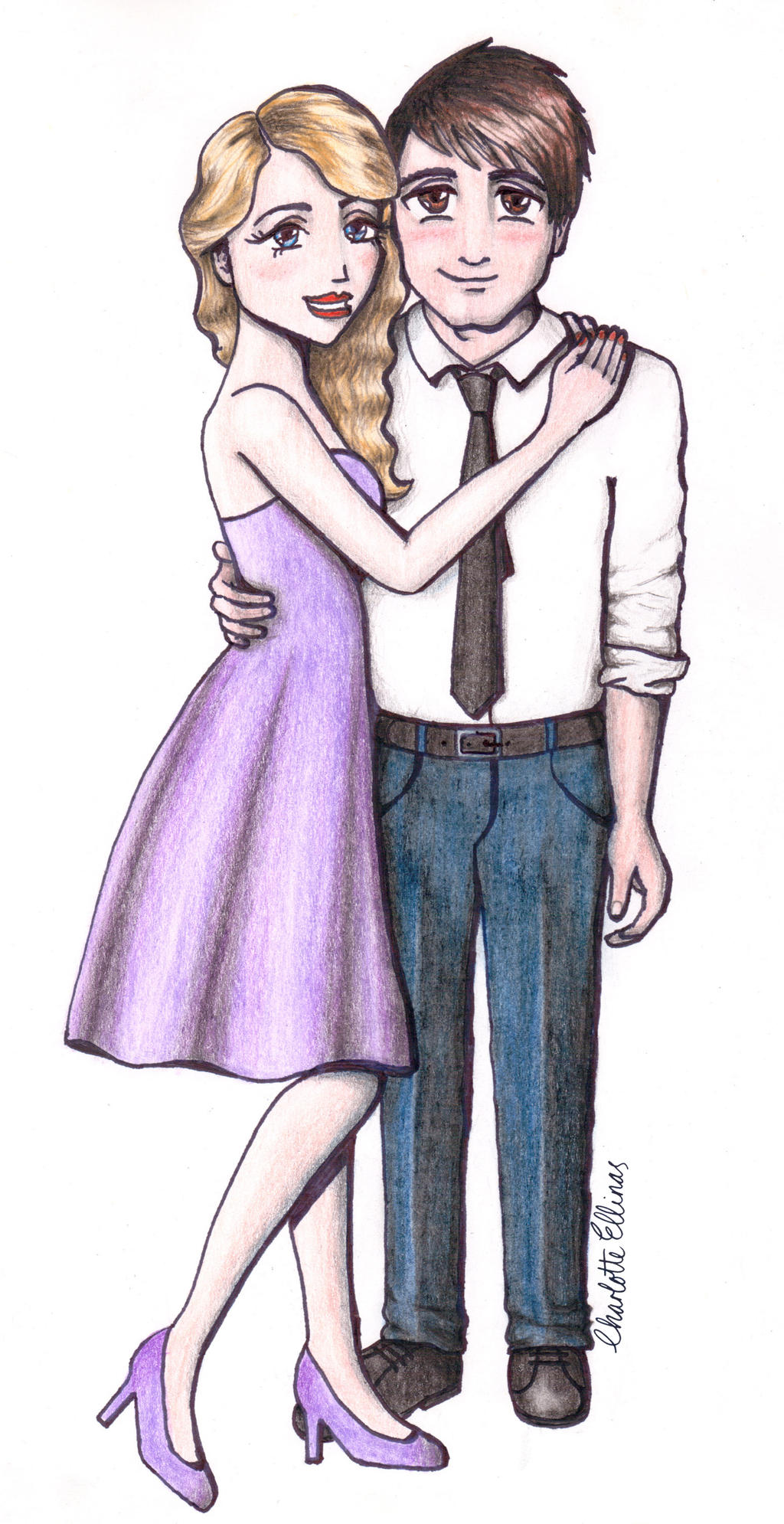 Taylor Swift And Adam Young Enchanted By Artbycharlotte On Deviantart