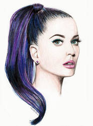 Katy Perry Coloured Pencil Portrait by ArtbyCharlotte